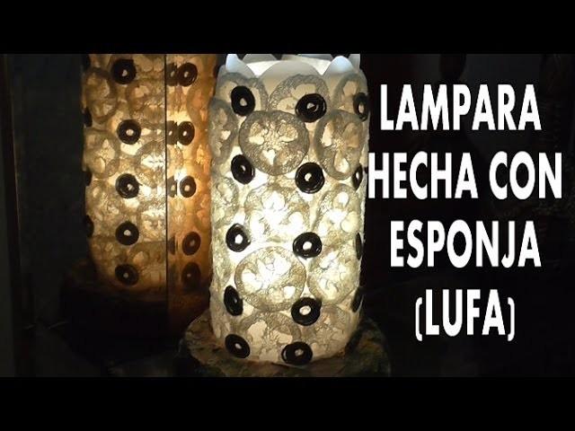 DIY COMO HACER UNA LAMPARA CON ESPONJA (lufa)estropajo