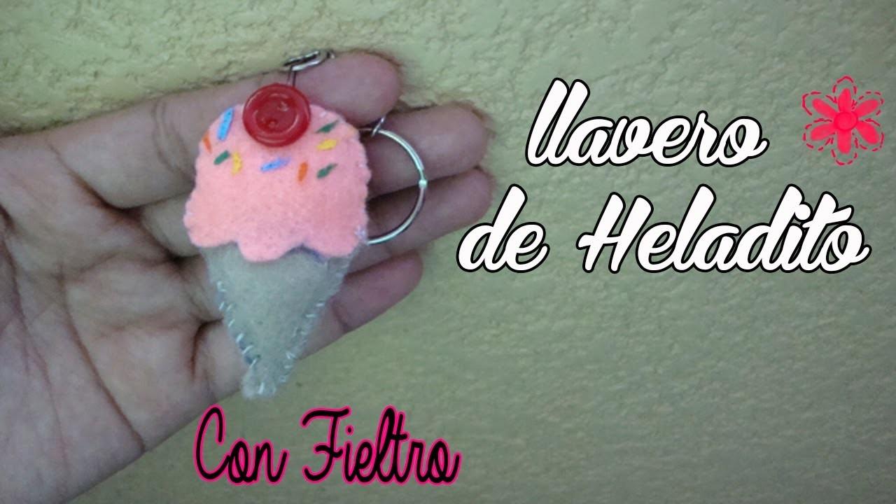 DIY-  llavero de Helado (con Fieltro)