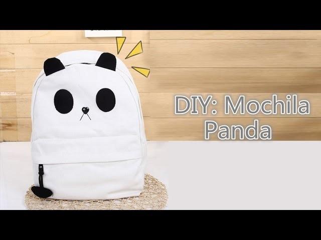 DIY: Mochila Panda | Panda Backpack