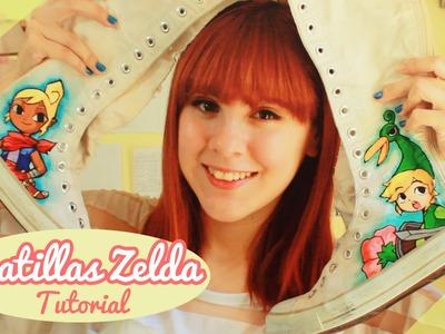 ♡ DIY: Personaliza tus zapatillas! (Zelda) ♡  By Piyoasdf