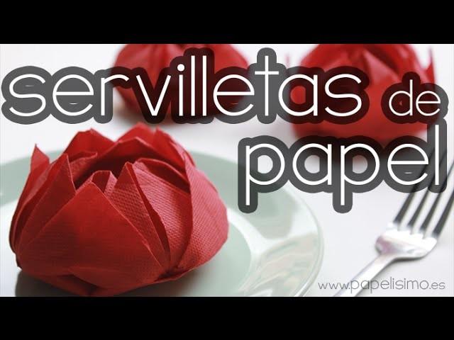 Doblar servilletas de papel con formas originales: Flor de papel