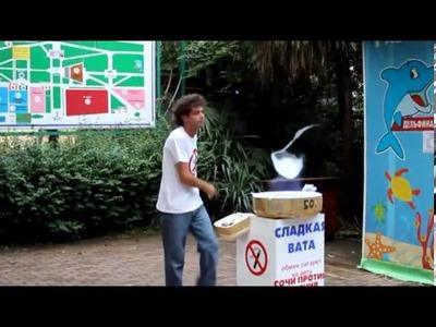 El mejor vendedor de algodón de azúcar del mundo