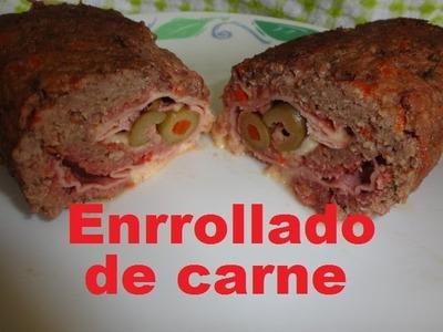 Enrollado  de carne Molida receta fácil