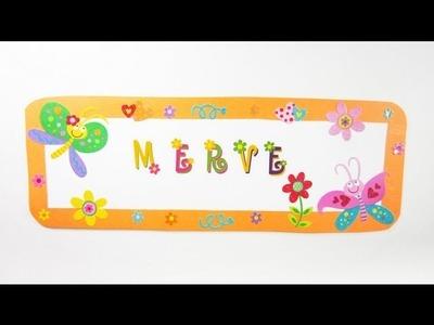 Episodio #567- Cómo  hacer un cartel para puerta con mariposas y flores