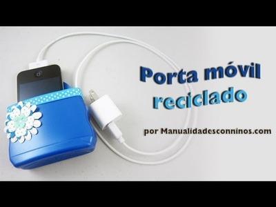 Episodio 579- Cómo hacer un porta móvil. celular reciclado con una botella de champú
