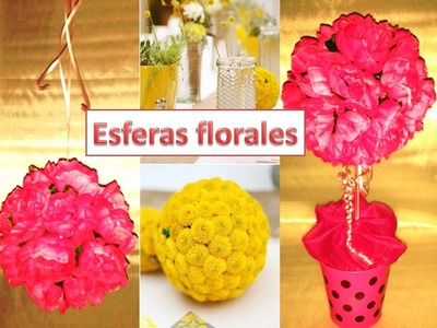 Esfera floral. arbol floral. centro de mesa para 15 años