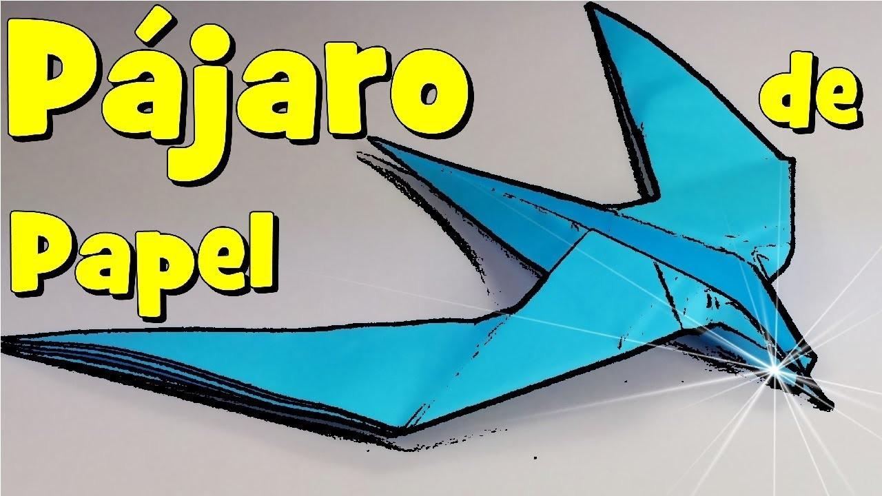 Gran Pájaro de Papel - Papiroflexia animal