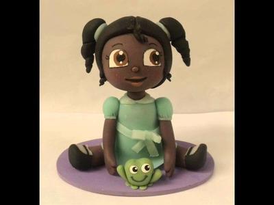 Haciendo a Tiana de La princesa y el sapo en porcelana fría (No es tutorial)