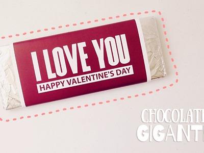 HAZ UNA BARRA DE CHOCOLATE GIGANTE (idea para San Valentín))