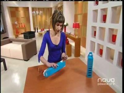Laura Alcázar realiza cajas decoradas para botellas, Bien Simple, Utilísima