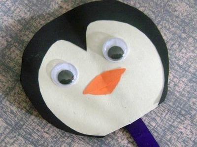 Manualidades de papel: pinguinos  - Titere