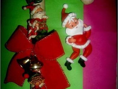 Manualidades Navideñas Papá Noel con Porcelana fría