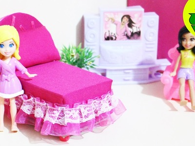 Manualidades para muñecas : Haz una mini camita para tus muñecas - SUPER FÁCIL