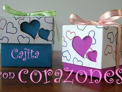 Manualidades para regalar - Cajita con corazones - Manualidades para todos
