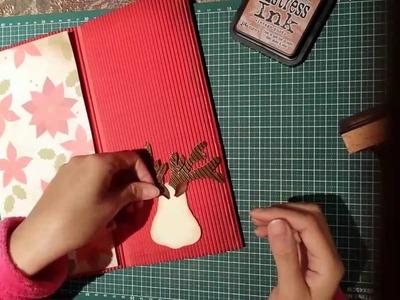 Manualidades Tarjeta de navidad con reno