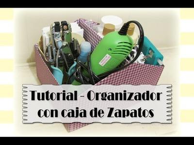 Organizador con caja de zapatos - Tutorial