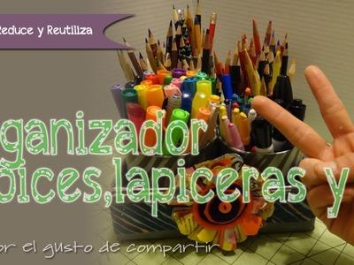 Organizador de colores y plumones ::Recycle::