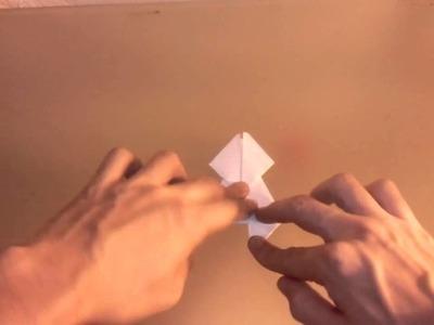 Origami: cómo hacer una rana saltarina - rana saltarina de papel con Origami