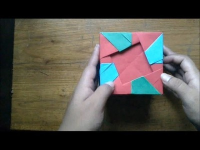 Origami Cubo con Cuadros (Especial de Navidad)