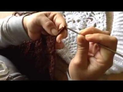 Paso a paso de bolero en crochet y 2 agujas parte 5
