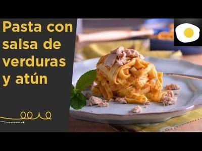 Pasta con salsa de verduras y atún (Receta) | Lúcete con Loleta