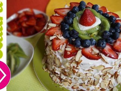 Pastel de frutas Las Recetas de Laura Postres sin azucar watermelon cake fruit cake
