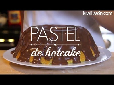 Pastel de hotcake con Betún de Milky Way