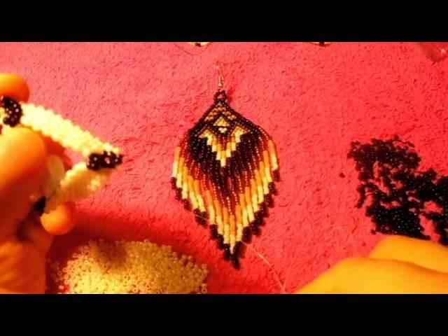Peyote stitch los aretes son bellisimos que no ojala les gusten a ustedes #4