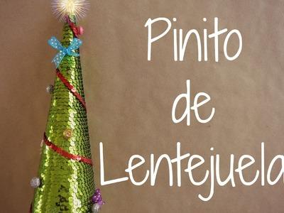 Pinito de Lentejuela {FACIL}. Manualidades para navidad