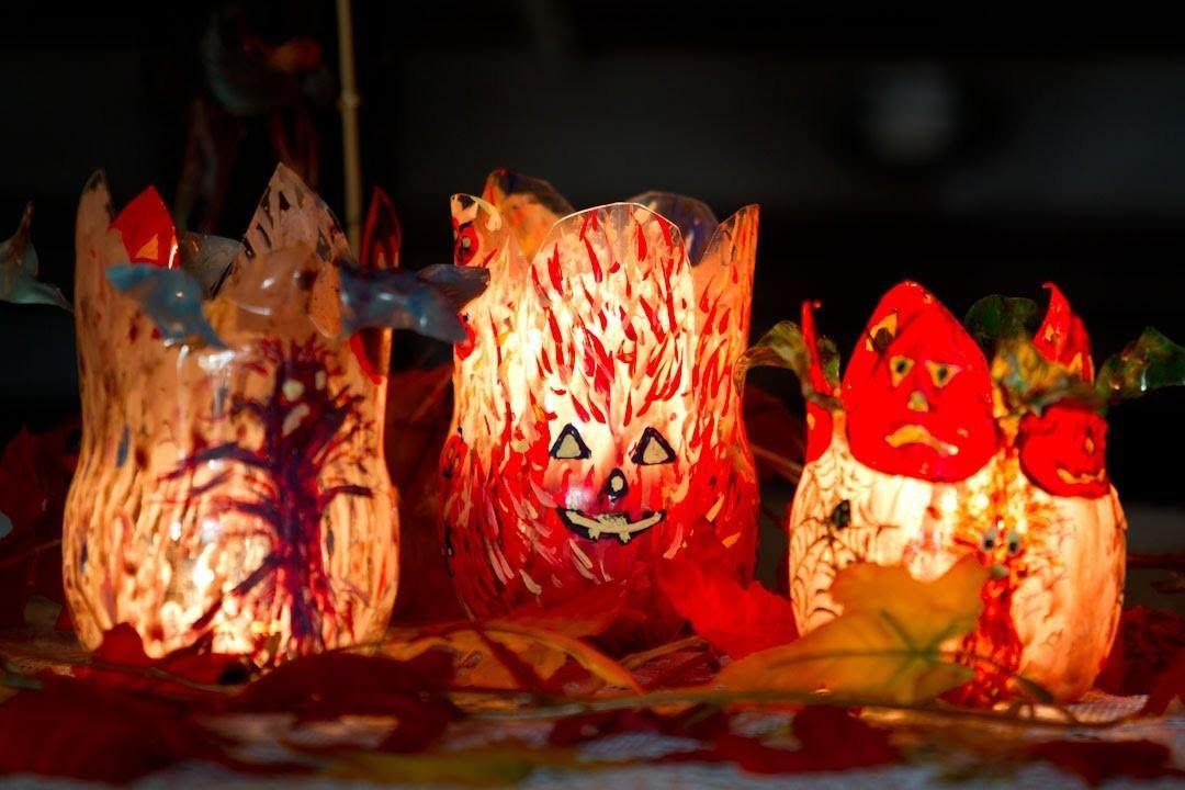 Portavelas Halloween y Centro de Mesa