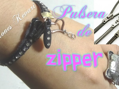 Pulsera Reciclada con Zipper o cremallera.cierres DIY: Zipper Bracelet | Back-to-School