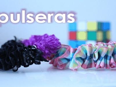 PULSERAS con listones o cinta satinada ✩ ¡Muy fáciles! ✩ crea tus accesorios. DIY bracelets