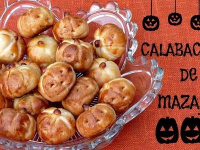 Recetas para Halloween y el Día de los Muertos, Calabacitas de Mazapán, Cocina para Halloween