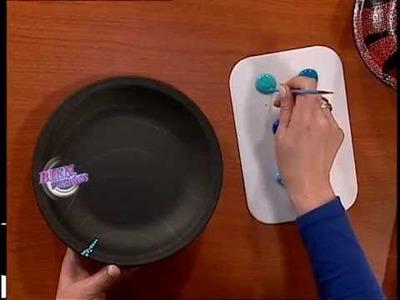 Rosana Ovejero - Bienvenidas TV - Aplica Puntillismo sobre Bizcocho en Pintura Decorativa.