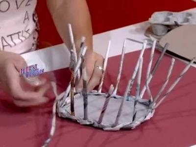 Silvina Buquete - Bienvenidas TV - Crea en cestería una canasta para huevos de pascua.