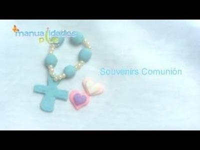 Souvenirs Comunión Rosaritos en Porcelana fría