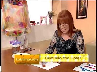 Sublimación sobre Camisola - Adriana Dadamo en Bienvenidas Tv