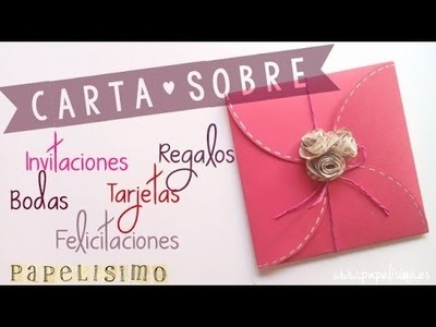 Tarjeta-Sobre para ♥ |Boda| ♥ |Invitación| ♥ |Regalo| ♥