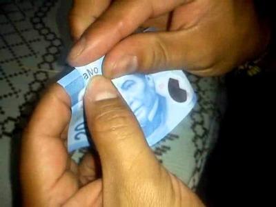 """""""TE AMO"""" con un solo billete de 20 pesos(nuevo)"""