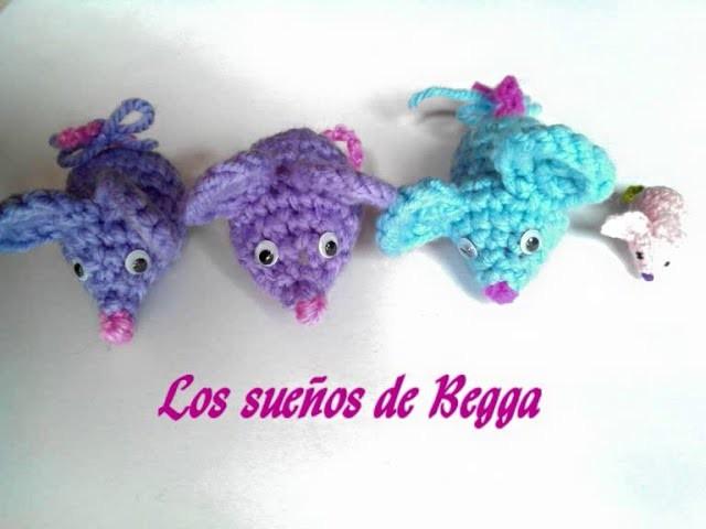 Tejiendo un ratoncito amigurumi pequeño (llavero, souvenir) - With english subtitles
