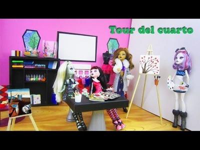 Tour de el cuarto de arte para muñecas + Enlaces para 30+ Manualidades Faciles en elcuarto