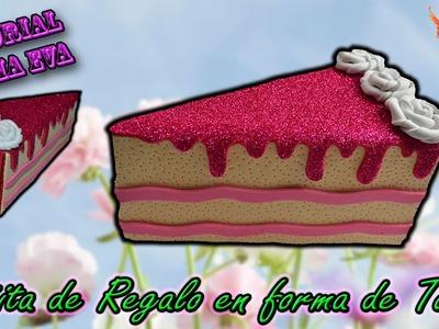 ♥ Tutorial: Cajita de Regalo en forma de Tarta de Goma Eva (Foamy) ♥