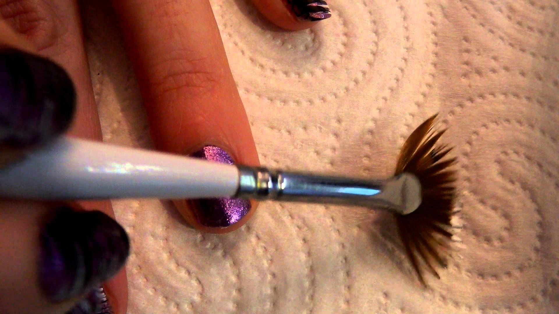 Tutorial uñas Nail art Nº60 Líneas pincel abanico