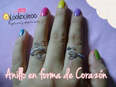 @xoOlexiitOo ❥DIY: Anillo en forma de corazón.  Heart Ring