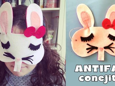Antifaz para niños en forma de conejo * ¡No veo nada!