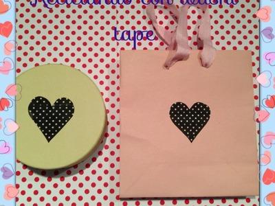 Bolsas y cajas recicladas con Washi tape_Manualidades DIY