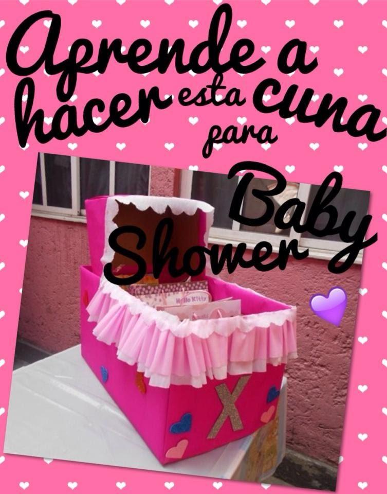 ¡CUNA PARA REGALOS DE BABY SHOWER!♥ FACIL; DIY.