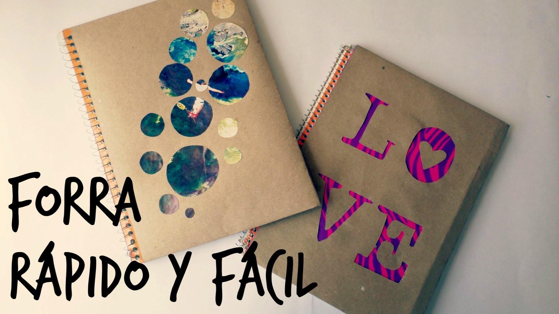 ¡Forra tus cuadernos rápido y sencillo! - Blooudland :)