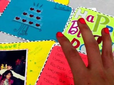 Como decorar una tarjeta de cumpleaños Sencilla ♥ REGALO PARA MI HERMANA ♥