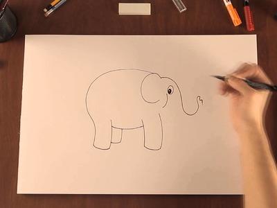 Cómo dibujar elefantes de dibujos animados : Tips de dibujo